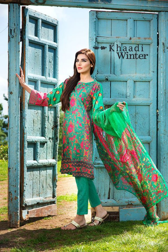 Khaadi Winter-Autumn Wear Shalwar-Kameez for Girls-Women New Fashion Suits-3