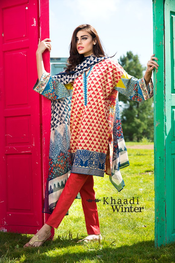 Khaadi Winter-Autumn Wear Shalwar-Kameez for Girls-Women New Fashion Suits-5