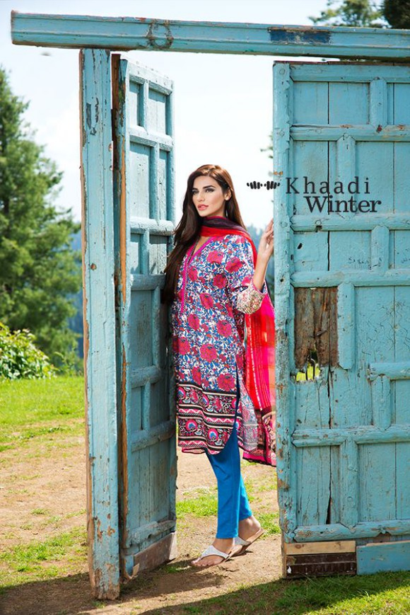Khaadi Winter-Autumn Wear Shalwar-Kameez for Girls-Women New Fashion Suits-6