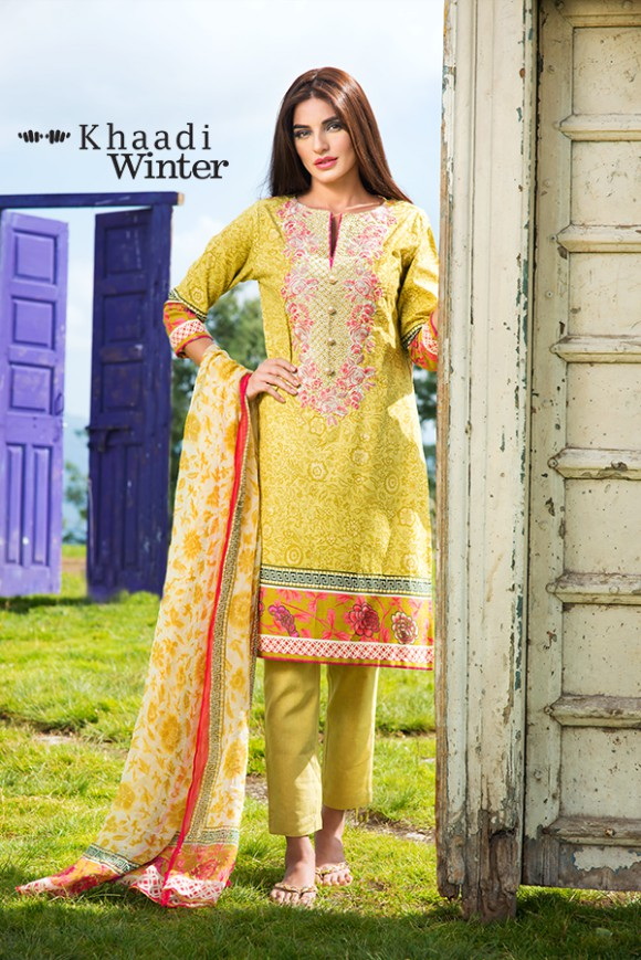 Khaadi Winter-Autumn Wear Shalwar-Kameez for Girls-Women New Fashion Suits-7