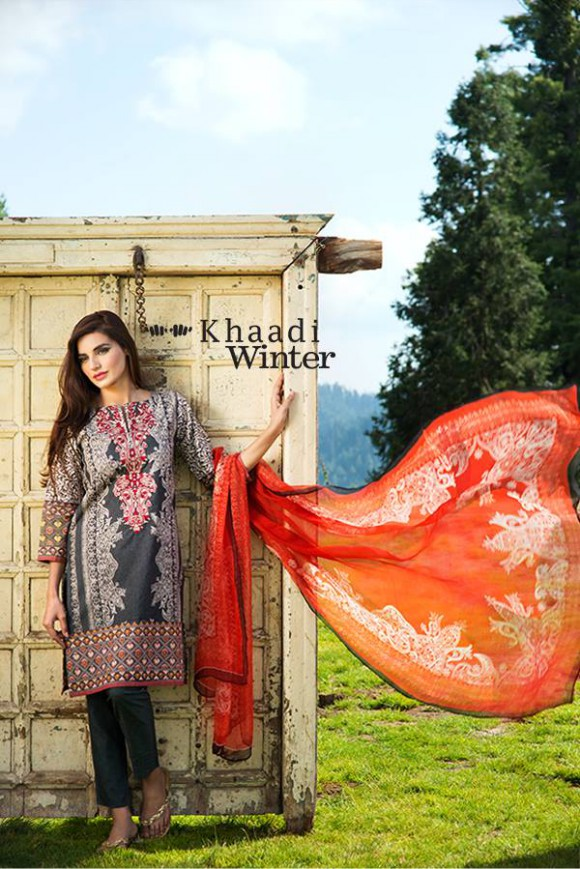 Khaadi Winter-Autumn Wear Shalwar-Kameez for Girls-Women New Fashion Suits-8