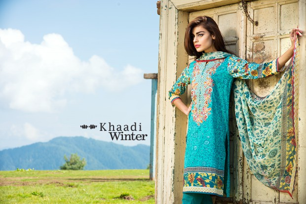 Khaadi Winter-Autumn Wear Shalwar-Kameez for Girls-Women New Fashion Suits-