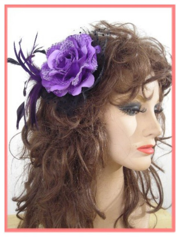 Lovely Artificial Silk Flower Hairstyles New Fashion for Western Girls-Women-5