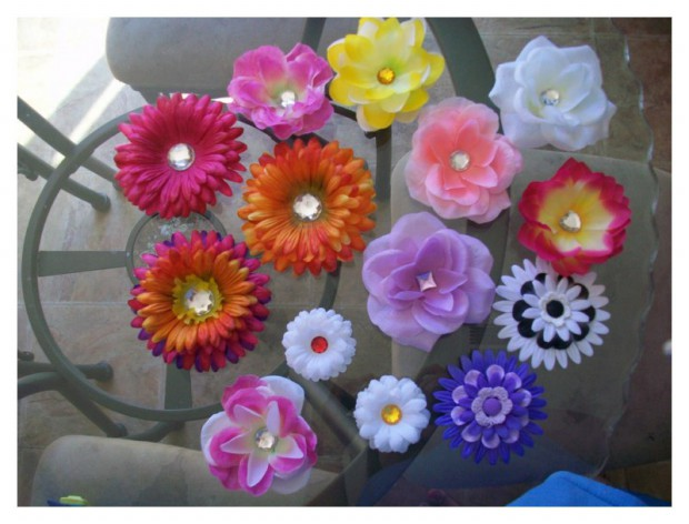 Lovely Artificial Silk Flower Hairstyles New Fashion for Western Girls-Women-9