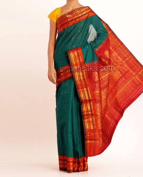 New Fashion Dress Designer Unnatisilks Traditional Silk Sarees-Sari Designs-2