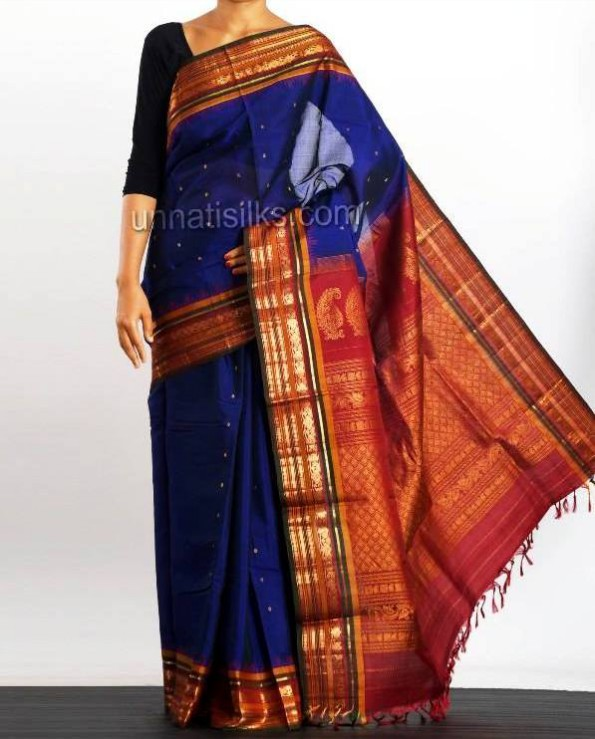 New Fashion Dress Designer Unnatisilks Traditional Silk Sarees-Sari Designs-3