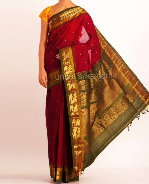 New Fashion Dress Designer Unnatisilks Traditional Silk Sarees-Sari Designs-6