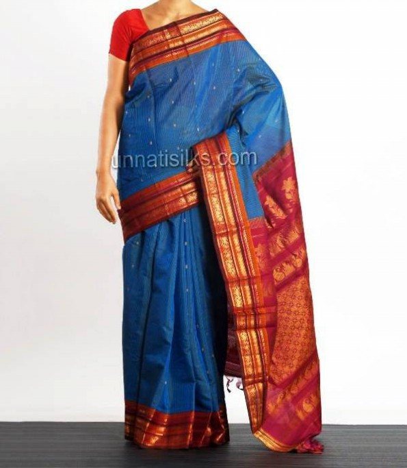 New Fashion Dress Designer Unnatisilks Traditional Silk Sarees-Sari Designs-8