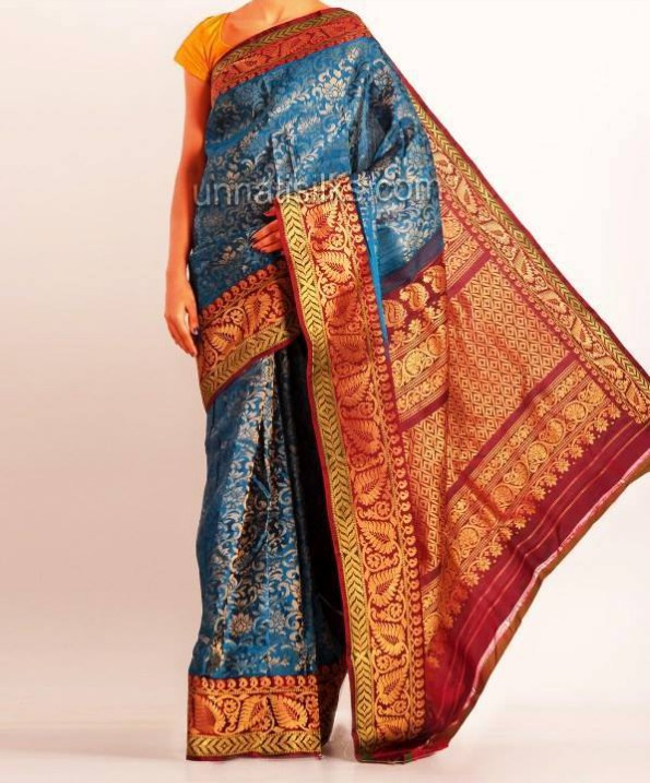 New Fashion Dress Designer Unnatisilks Traditional Silk Sarees-Sari Designs-9