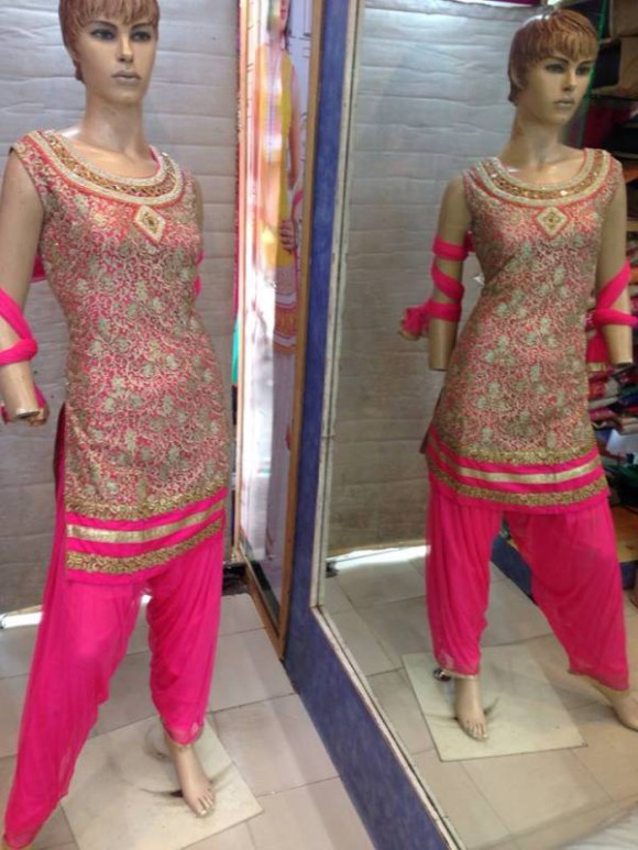New Fashion Indian Punjabi Style Patiala Salwar-Kamiz Suits for Girls Dress-2