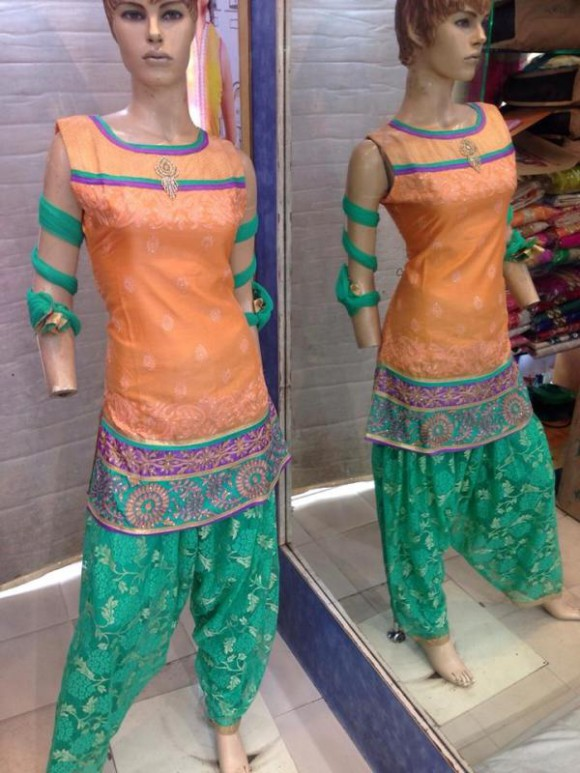 New Fashion Indian Punjabi Style Patiala Salwar-Kamiz Suits for Girls Dress-3