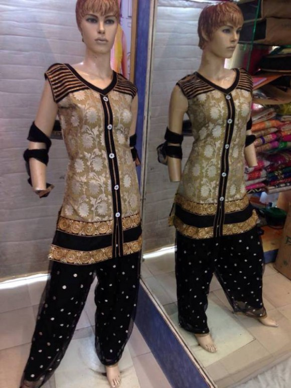 New Fashion Indian Punjabi Style Patiala Salwar-Kamiz Suits for Girls Dress-4