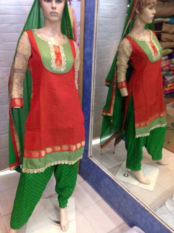 New Fashion Indian Punjabi Style Patiala Salwar-Kamiz Suits for Girls Dress-