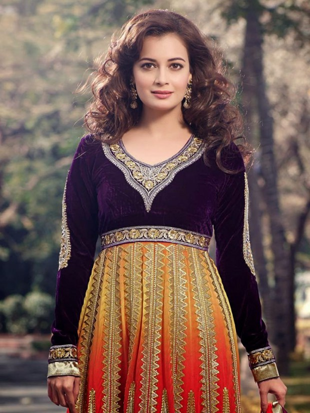 Bollywood-Indian Famous Actress Dia Mirza Stylish Suits by Brides-Galleria-3