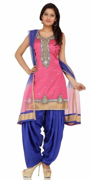 Indian Patiala Salwar Kameez Designs Picture Gallery Night-Evening Party Wear Dress-11