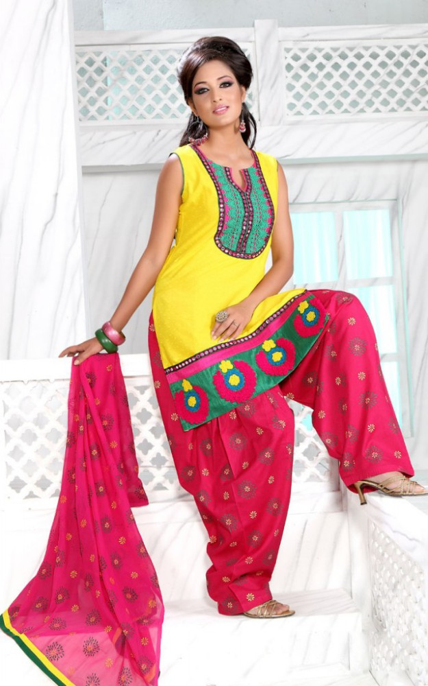 Indian Patiala Salwar Kameez Designs Picture Gallery Night-Evening Party Wear Dress-3