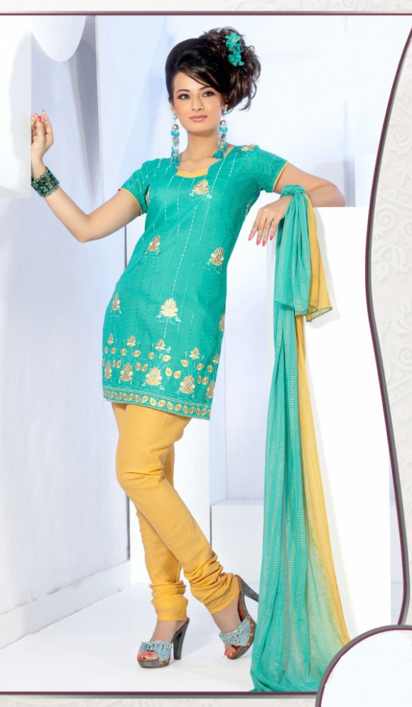 Indian Patiala Salwar Kameez Designs Picture Gallery Night-Evening Party Wear Dress-5