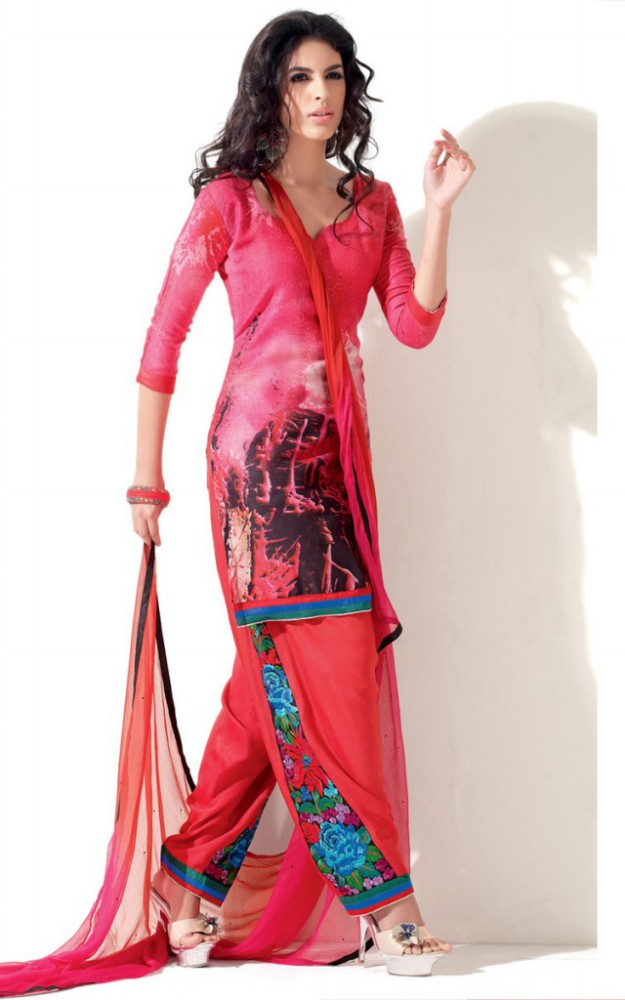 Indian Patiala Salwar Kameez Designs Picture Gallery Night-Evening Party Wear Dress-6