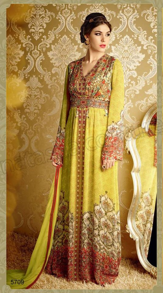 Latest Beautiful Printed Embroidered Outfits Girls Suits by Natasha Couture-10