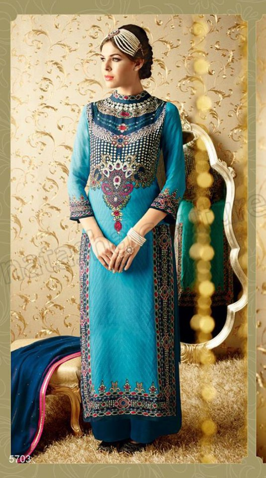 Latest Beautiful Printed Embroidered Outfits Girls Suits by Natasha Couture-4