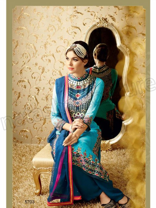 Latest Beautiful Printed Embroidered Outfits Girls Suits by Natasha Couture-7