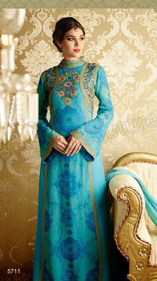 Latest Beautiful Printed Embroidered Outfits Girls Suits by Natasha Couture-9