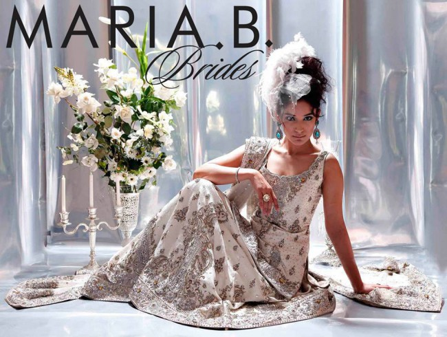 Latest Fashionable Dress Designer Maria B Wedding-Bridal for Brides-
