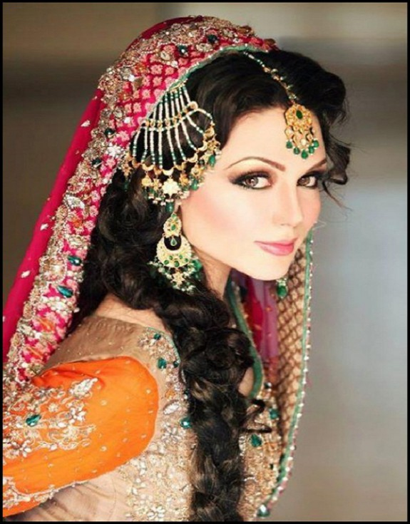 Latest Indian Wedding-Bridal New Fashionable Stylish Hair Cuts-Hairstyles-7