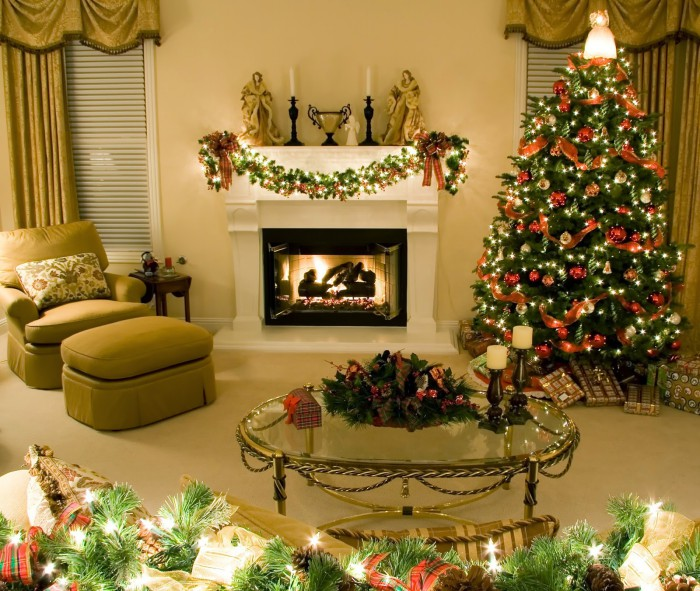 Merry Christmas-X-Mass Beautiful Tree Lights Decoration Eve-Idea-Plan Greeting Card Design Images-Pictures-3