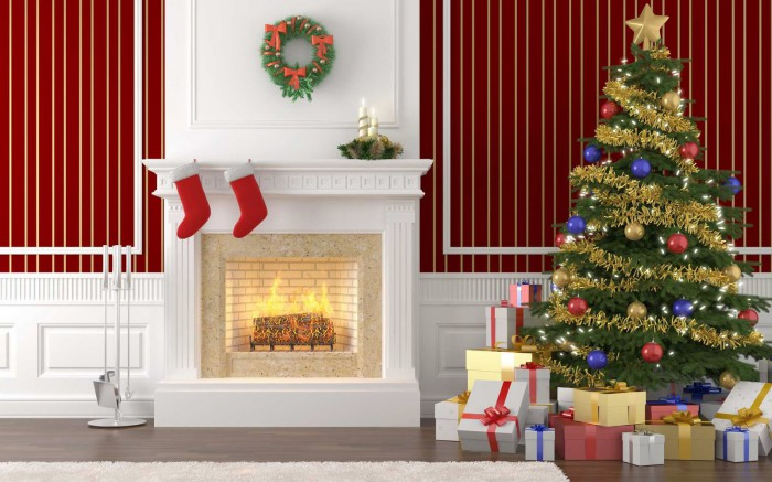 Merry Christmas-X-Mass Beautiful Tree Lights Decoration Eve-Idea-Plan Greeting Card Design Images-Pictures-4