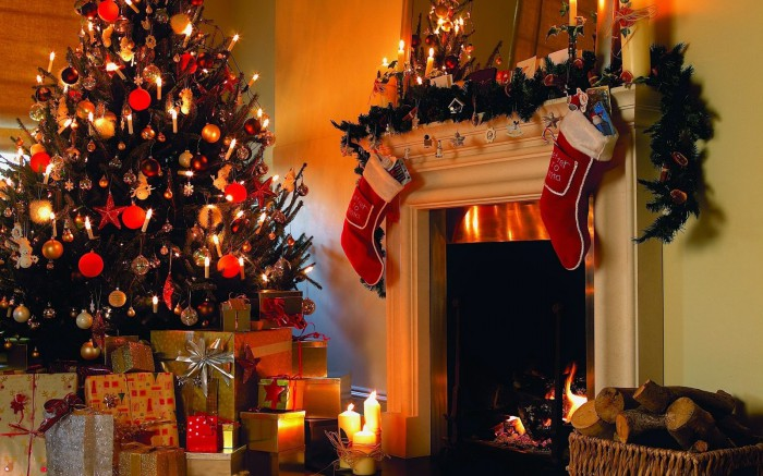 Merry Christmas-X-Mass Beautiful Tree Lights Decoration Eve-Idea-Plan Greeting Card Design Images-Pictures-6