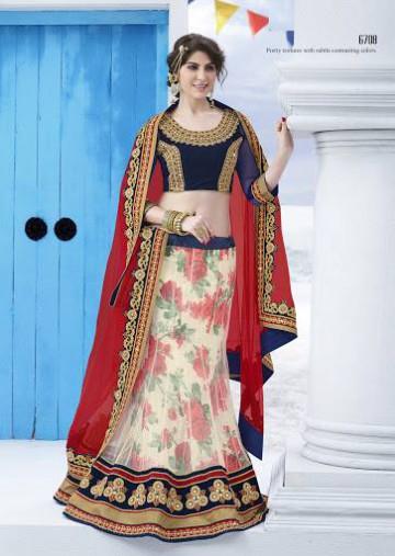 Trendy Diwali Zeena Lehangas-Choli-Sharara New Fashion by Saheli Couture-6