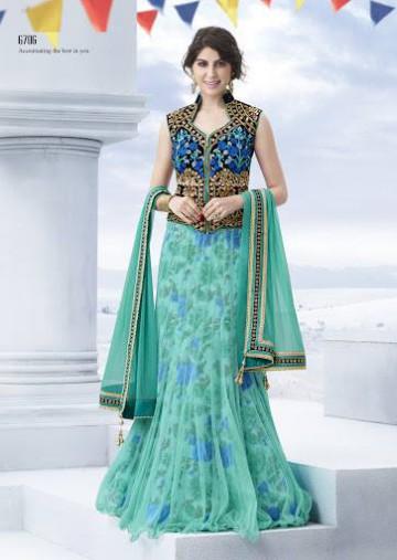 Trendy Diwali Zeena Lehangas-Choli-Sharara New Fashion by Saheli Couture-