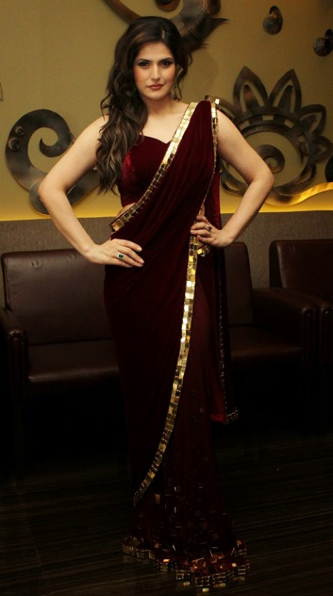 Fashion Style Bollywood Indian Actress Model Zareen Khan Wear Beautiful Lehenga Different