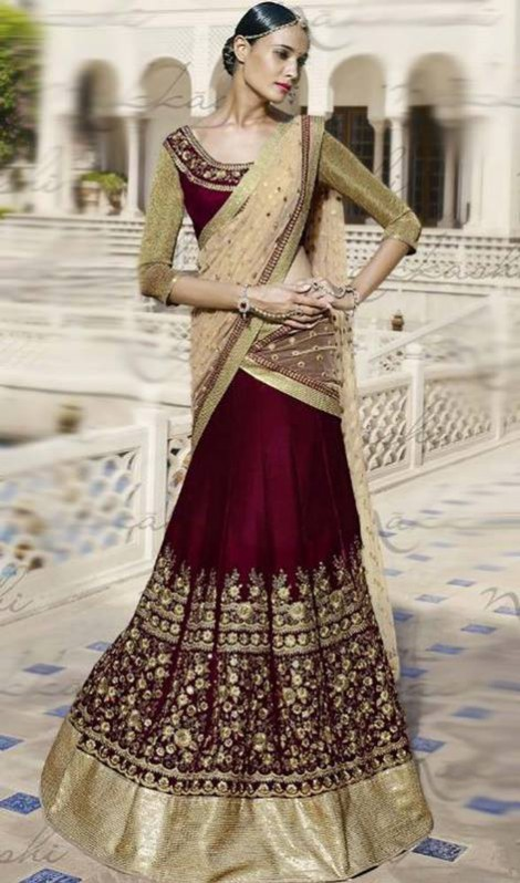 Bridal-Wedding Brides-Dulhan Wear  Lehanga-Choli-Sharara Designs by Fashion Dress Designer Kaneesha-4