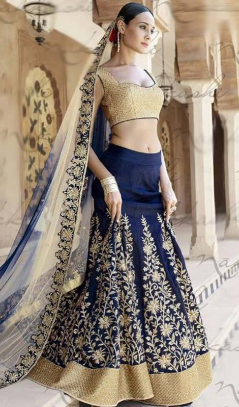 Bridal-Wedding Brides-Dulhan Wear  Lehanga-Choli-Sharara Designs by Fashion Dress Designer Kaneesha-5