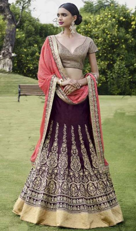 Bridal-Wedding Brides-Dulhan Wear  Lehanga-Choli-Sharara Designs by Fashion Dress Designer Kaneesha-6