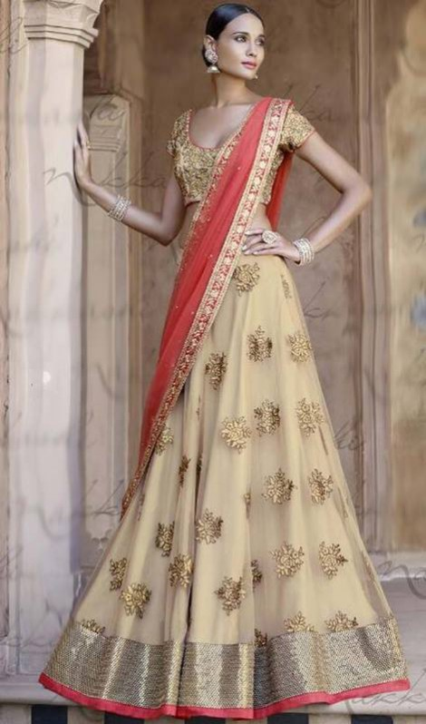 Bridal-Wedding Brides-Dulhan Wear  Lehanga-Choli-Sharara Designs by Fashion Dress Designer Kaneesha-9