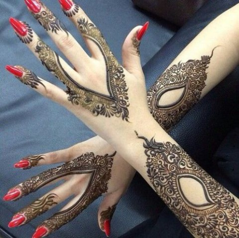 Bridal-Wedding Mehndi Designs for Full Hands-Feet Front and Back Latest Fashion Mehendi-11