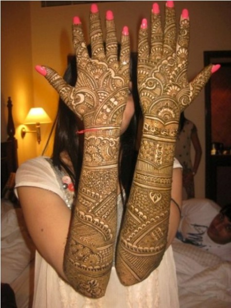 Bridal-Wedding Mehndi Designs for Full Hands-Feet Front and Back Latest Fashion Mehendi-12