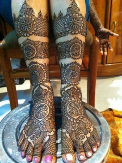 Bridal-Wedding Mehndi Designs for Full Hands-Feet Front and Back Latest Fashion Mehendi-14