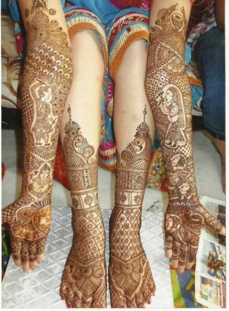 Bridal-Wedding Mehndi Designs for Full Hands-Feet Front and Back Latest Fashion Mehendi-15