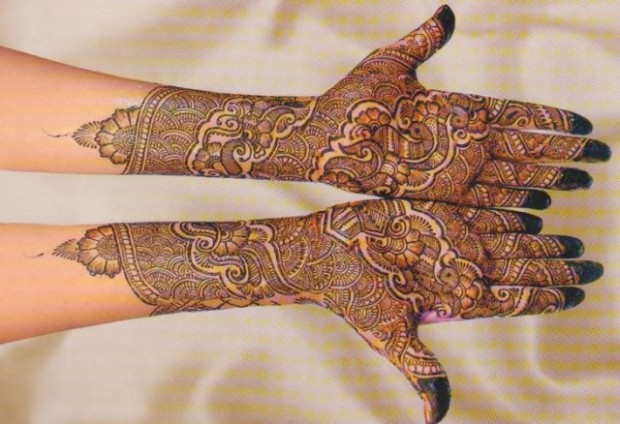 Bridal-Wedding Mehndi Designs for Full Hands-Feet Front and Back Latest Fashion Mehendi-7
