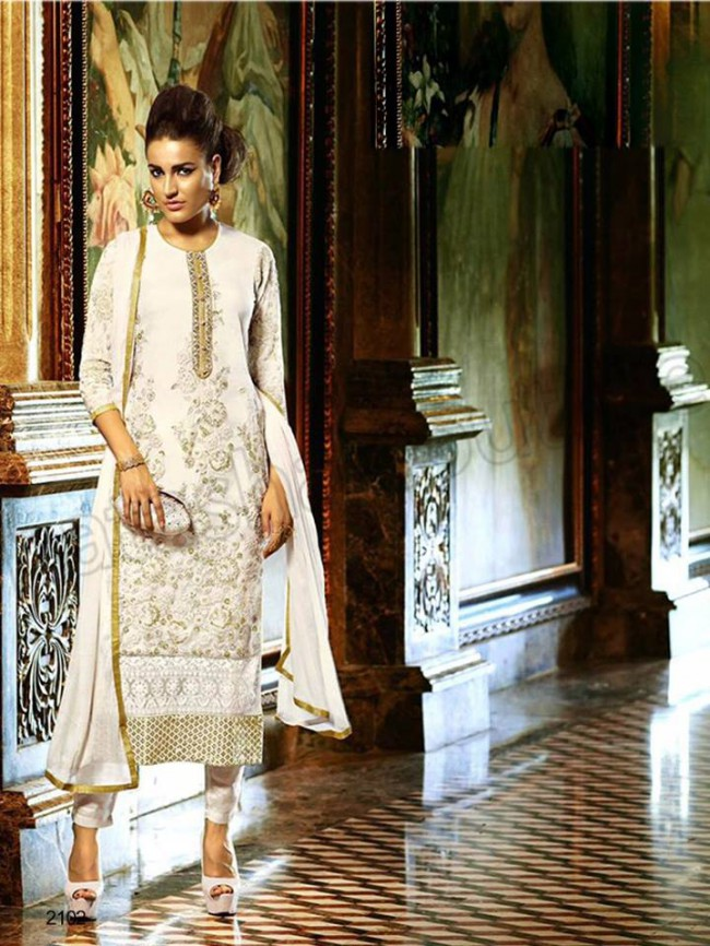 Churidar Latest Shalwar-Kameez Winter Dresses for Girls-Women by Natasha Couture-3
