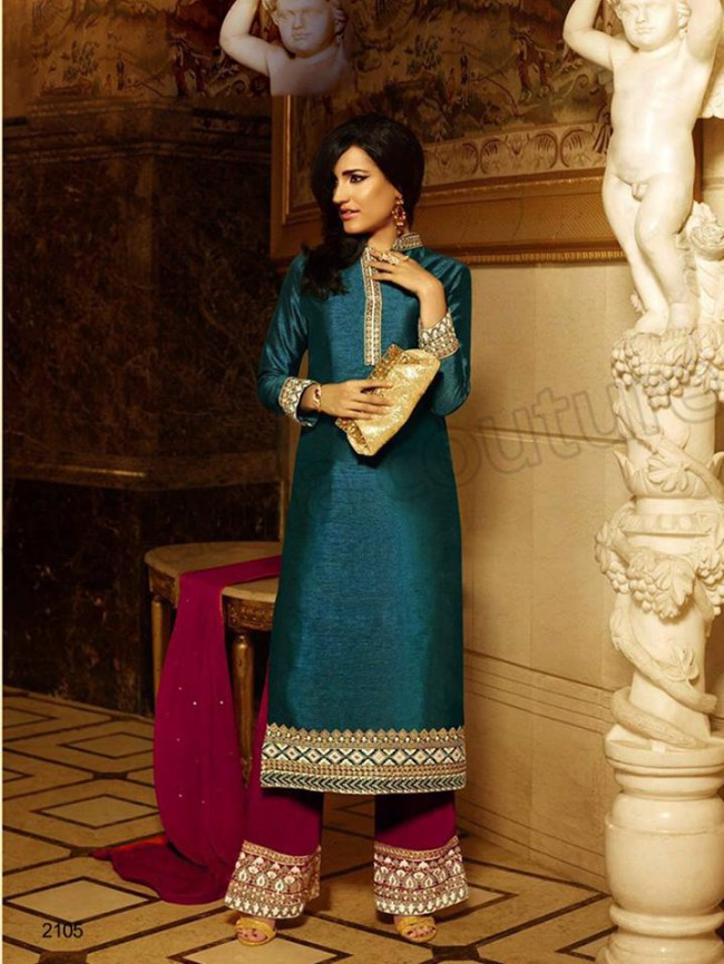 Churidar Latest Shalwar-Kameez Winter Dresses for Girls-Women by Natasha Couture-9