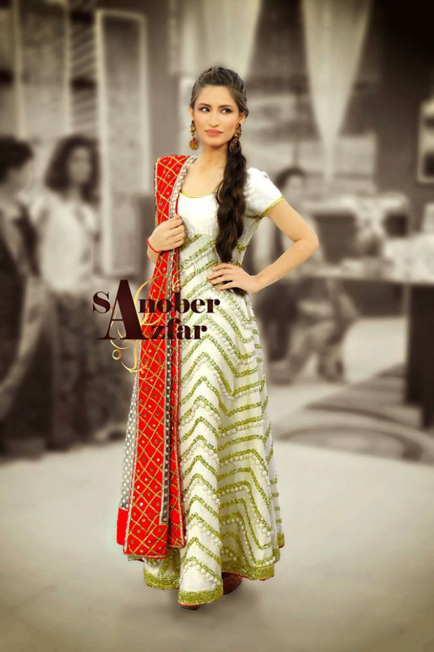 Latest Fashion Dress Designer Sanober Azfar Formal Girls-Women Wear Outfits-2