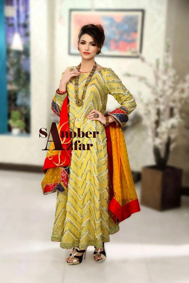 Latest Fashion Dress Designer Sanober Azfar Formal Girls-Women Wear Outfits-4