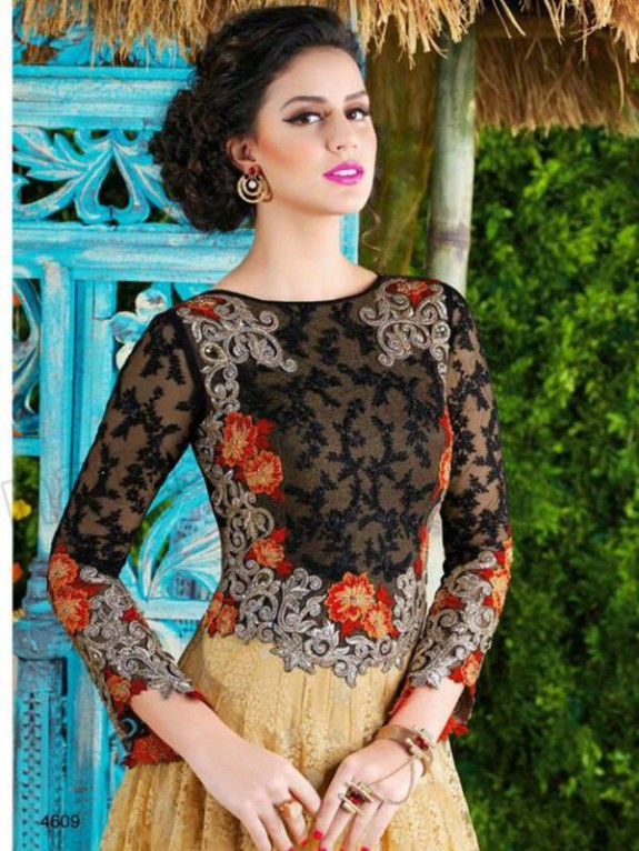 Latest Net Party Wear Gown Dress New Fashionable Suits for Girls-Women-2