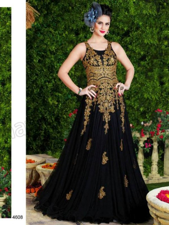 Latest Net Party Wear Gown Dress New Fashionable Suits for Girls-Women-7