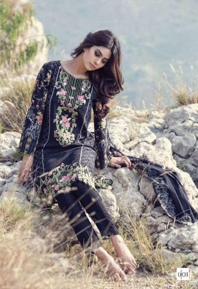 Maria.B Latest Fashion Dress Designer New Winter Wear Suits-10
